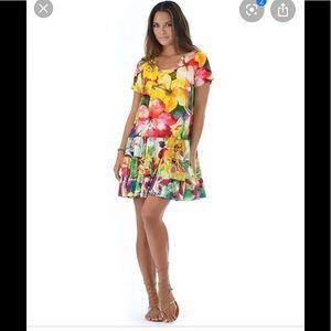 Jams world Hattie dress in ibisco Hawaiian print
